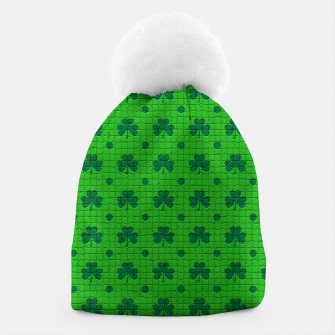 Green shamrocks pattern  Beanie thumbnail image