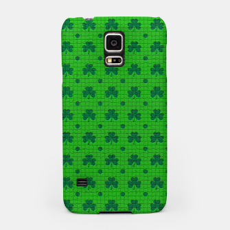 Thumbnail image of Green shamrocks pattern  Samsung Case, Live Heroes