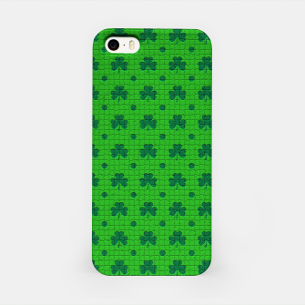 Thumbnail image of Green shamrocks pattern  iPhone Case, Live Heroes