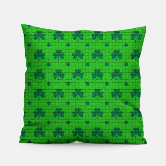 Green shamrocks pattern  Pillow thumbnail image