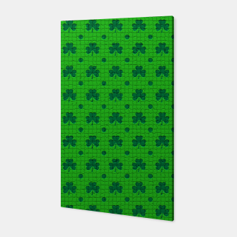 Green shamrocks pattern  Canvas thumbnail image