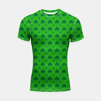 Green shamrocks pattern  Shortsleeve rashguard thumbnail image