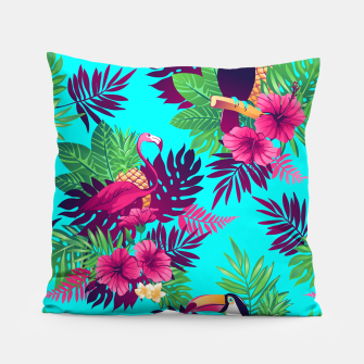 Thumbnail image of Colorful Tropical Pillow, Live Heroes