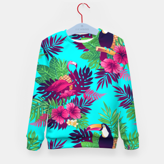 Thumbnail image of Colorful Tropical Kid's sweater, Live Heroes
