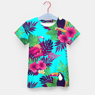 Thumbnail image of Colorful Tropical Kid's t-shirt, Live Heroes