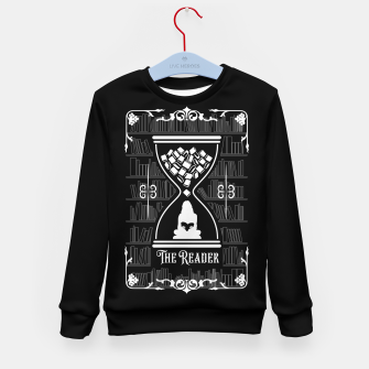 Thumbnail image of The Reader Tarot Card Kid's sweater, Live Heroes