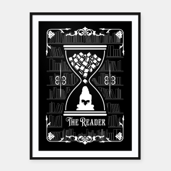 Thumbnail image of The Reader Tarot Card Framed poster, Live Heroes