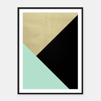 Miniature de image de Gold meets Mint & Black Geometric #1 #minimal #decor #art Plakat mit rahmen, Live Heroes