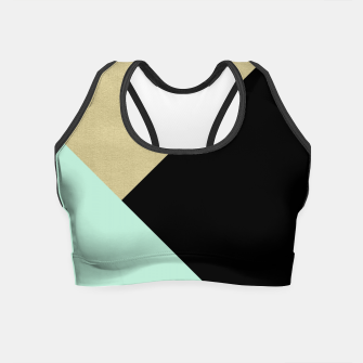 Imagen en miniatura de Gold meets Mint & Black Geometric #1 #minimal #decor #art Crop Top, Live Heroes