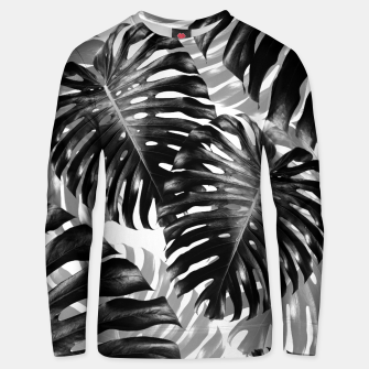 Tropical Monstera Jungle Leaves Pattern #3 #tropical #decor #art  Unisex sweatshirt Bild der Miniatur