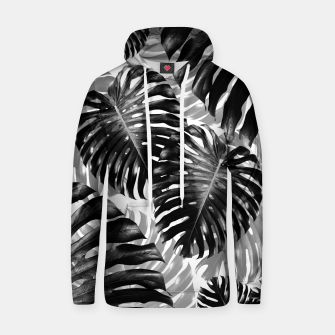 Tropical Monstera Jungle Leaves Pattern #3 #tropical #decor #art  Kapuzenpullover Bild der Miniatur