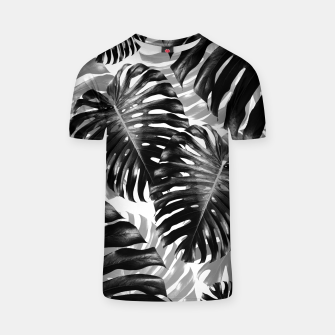 Tropical Monstera Jungle Leaves Pattern #3 #tropical #decor #art  T-Shirt Bild der Miniatur