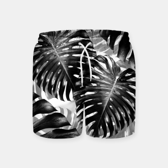 Tropical Monstera Jungle Leaves Pattern #3 #tropical #decor #art  Badeshorts Bild der Miniatur