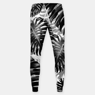 Tropical Monstera Jungle Leaves Pattern #3 #tropical #decor #art  Hosen Bild der Miniatur
