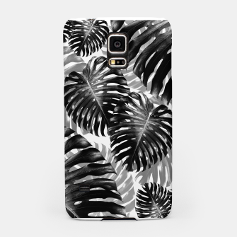 Tropical Monstera Jungle Leaves Pattern #3 #tropical #decor #art  Handyhülle für Samsung Bild der Miniatur