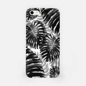 Tropical Monstera Jungle Leaves Pattern #3 #tropical #decor #art  iPhone-Hülle Bild der Miniatur