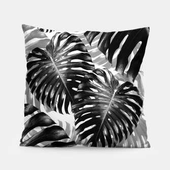 Tropical Monstera Jungle Leaves Pattern #3 #tropical #decor #art  Kissen Bild der Miniatur