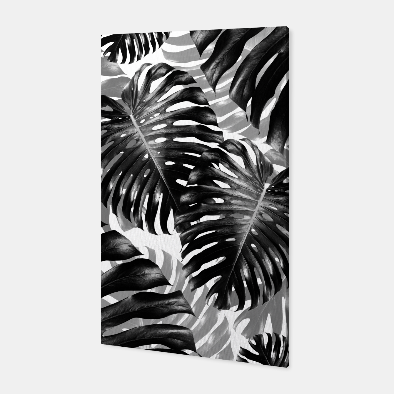 Foto Tropical Monstera Jungle Leaves Pattern #3 #tropical #decor #art  Canvas - Live Heroes