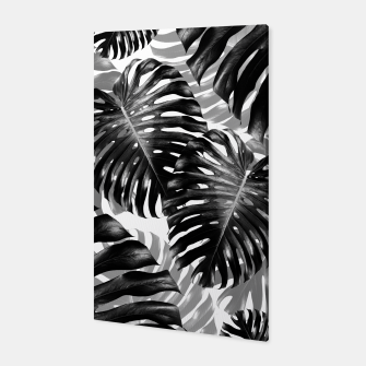 Tropical Monstera Jungle Leaves Pattern #3 #tropical #decor #art  Canvas Bild der Miniatur