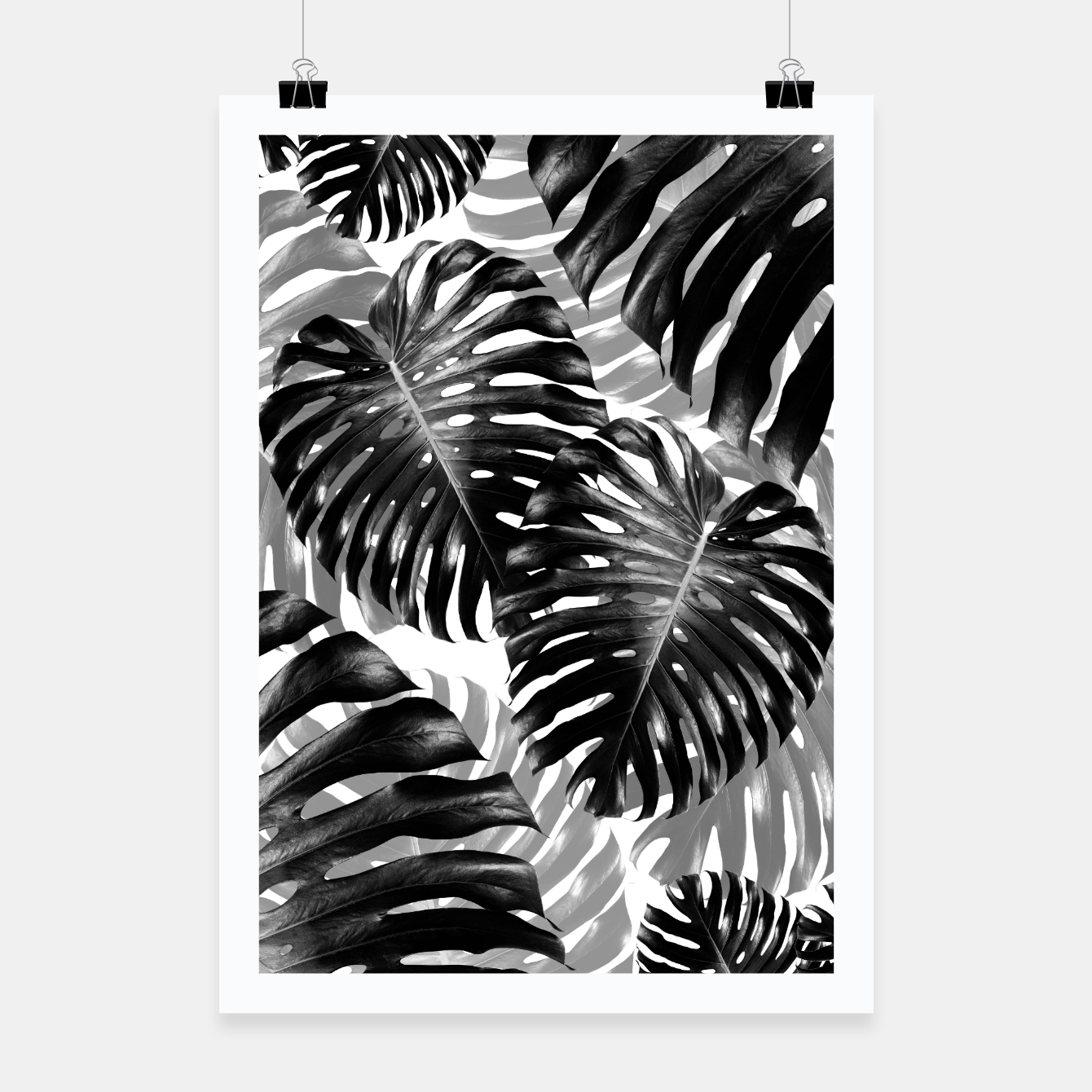 Foto Tropical Monstera Jungle Leaves Pattern #3 #tropical #decor #art  Plakat - Live Heroes