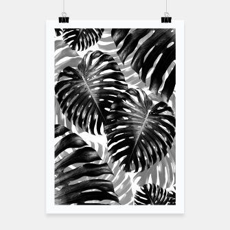 Miniature de image de Tropical Monstera Jungle Leaves Pattern #3 #tropical #decor #art  Plakat, Live Heroes