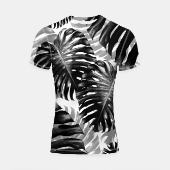 Tropical Monstera Jungle Leaves Pattern #3 #tropical #decor #art  Shortsleeve rashguard Bild der Miniatur