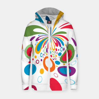 Miniatur Color Splash Zip up hoodie, Live Heroes