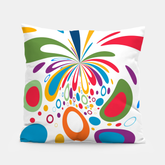 Miniatur Color Splash Pillow, Live Heroes