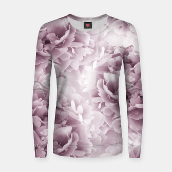Mauve Peonies Dream #1 #floral #decor #art Frauen sweatshirt obraz miniatury