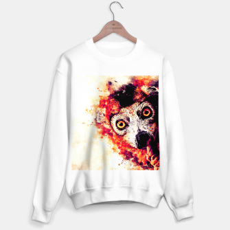 Thumbnail image of maki lemur ape ws ls Sweater regular, Live Heroes