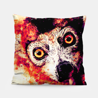 maki lemur ape ws ls Pillow miniature