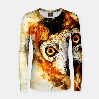 Thumbnail image of maki lemur ape ws std Women sweater, Live Heroes
