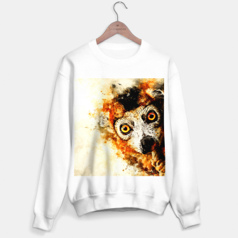 Thumbnail image of maki lemur ape ws std Sweater regular, Live Heroes