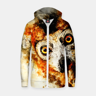 Thumbnail image of maki lemur ape ws std Zip up hoodie, Live Heroes