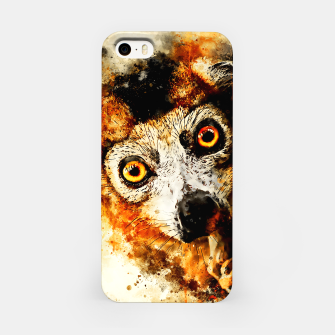 maki lemur ape ws std iPhone Case thumbnail image
