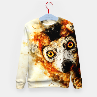 Thumbnail image of maki lemur ape ws std Kid's sweater, Live Heroes
