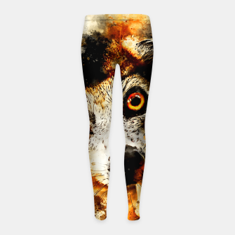 Thumbnail image of maki lemur ape ws std Girl's leggings, Live Heroes