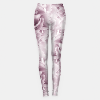 Mauve Peonies Dream #1 #floral #decor #art Leggings Bild der Miniatur