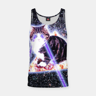 Thumbnail image of Space Laser Cat Tank Top, Live Heroes