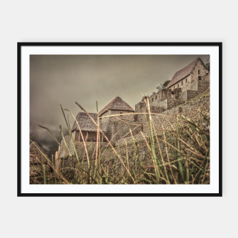 Thumbnail image of Houses of Machu Picchu Inca City Framed poster, Live Heroes