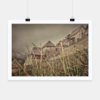 Thumbnail image of Houses of Machu Picchu Inca City Poster, Live Heroes