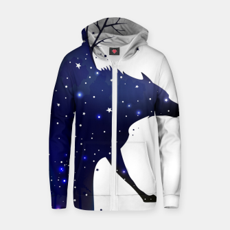 Thumbnail image of Galaxy Wolf Zip up hoodie, Live Heroes