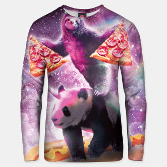 Thumbnail image of Space Panda Sloth Unisex sweater, Live Heroes