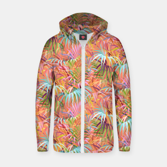 Miniaturka Tropical Mood of the Coral Season Zip up hoodie, Live Heroes