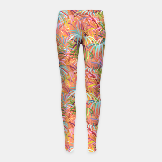 Miniaturka Tropical Mood of the Coral Season Girl's leggings, Live Heroes