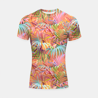 Miniaturka Tropical Mood of the Coral Season Shortsleeve rashguard, Live Heroes