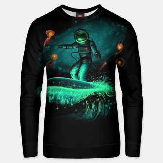 Thumbnail image of Surfing Astronaut Unisex sweater, Live Heroes
