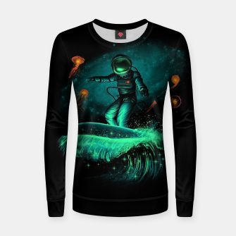 Thumbnail image of Surfing Astronaut Women sweater, Live Heroes