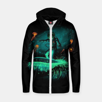 Thumbnail image of Surfing Astronaut Zip up hoodie, Live Heroes