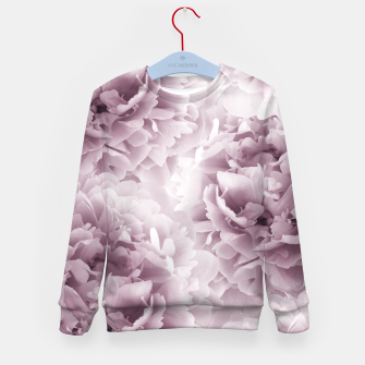 Mauve Peonies Dream #1 #floral #decor #art Kindersweatshirt Bild der Miniatur